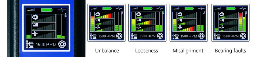 Explanation of Vibration Meter screens